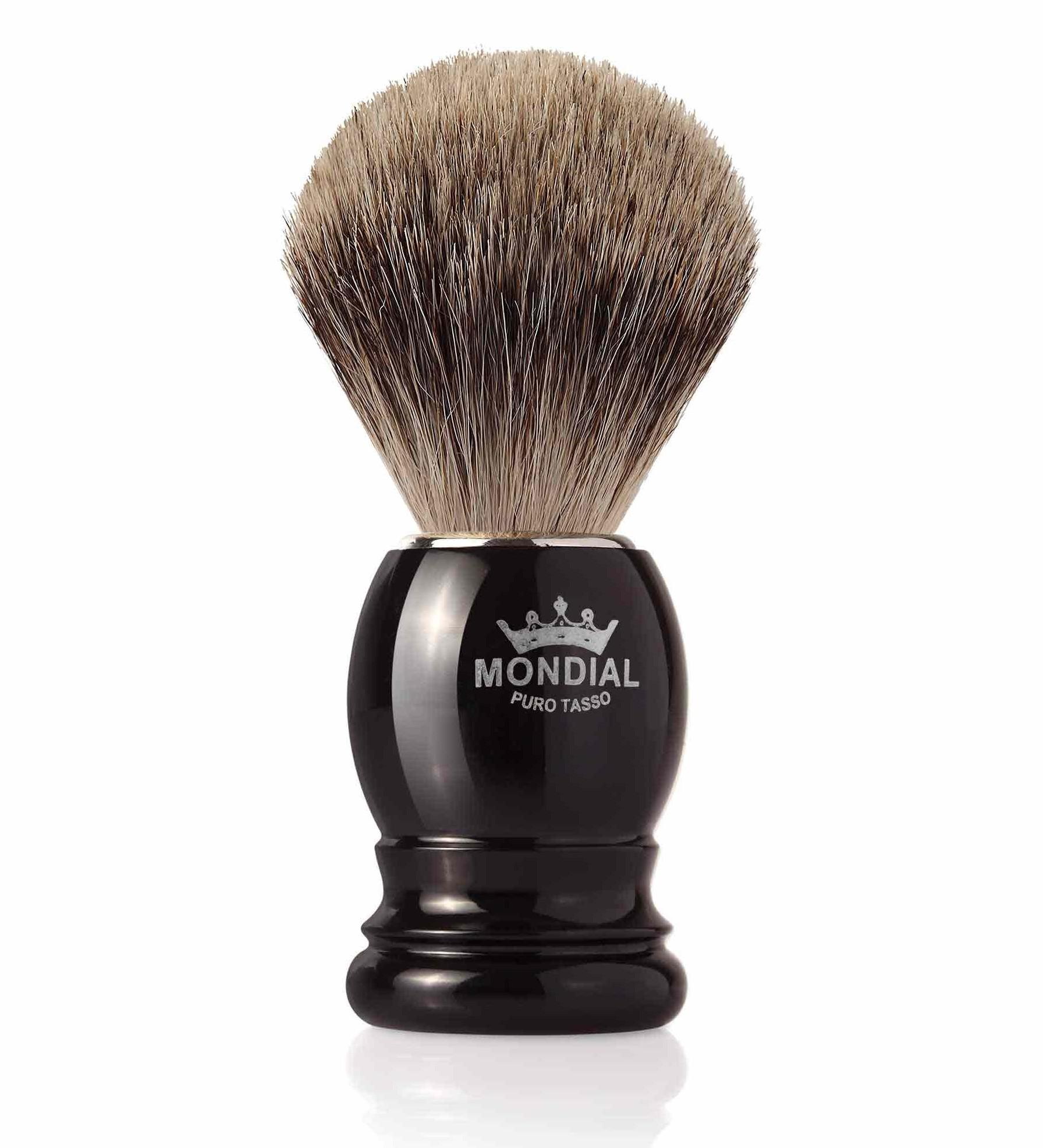 Mondial Basic Shaving Brush Fine Badger, Black